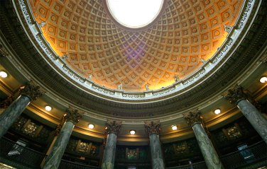 Rotunda, Gould Memorial Library, Bronx Community College