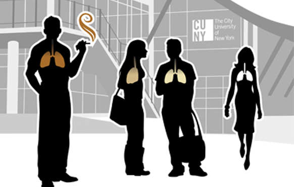 Tobacco-free CUNY graphic