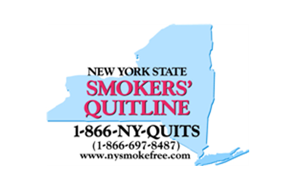 NY State Quitline anti-smoking graphic
