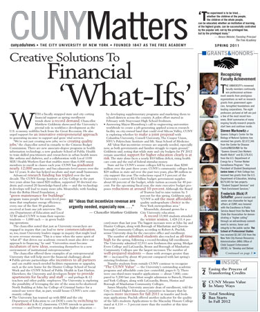 CUNY Matters Spring 2011 cover