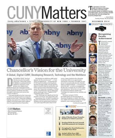CUNY Matters December 2014 cover