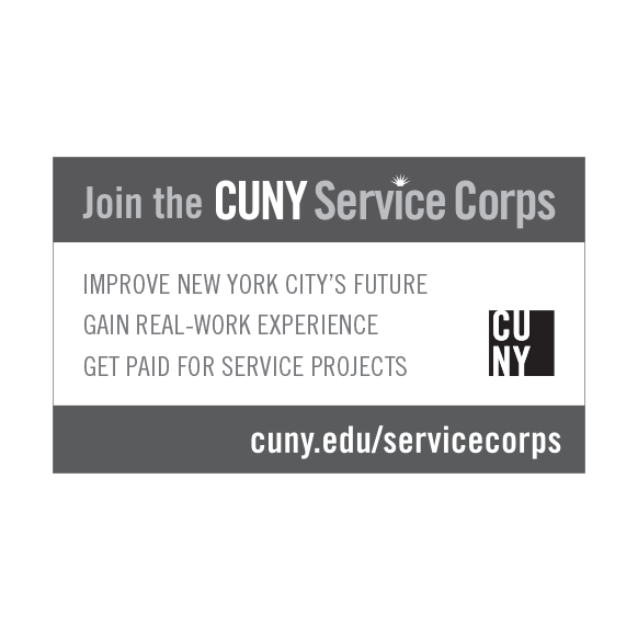 Service Corps print ad, black and white