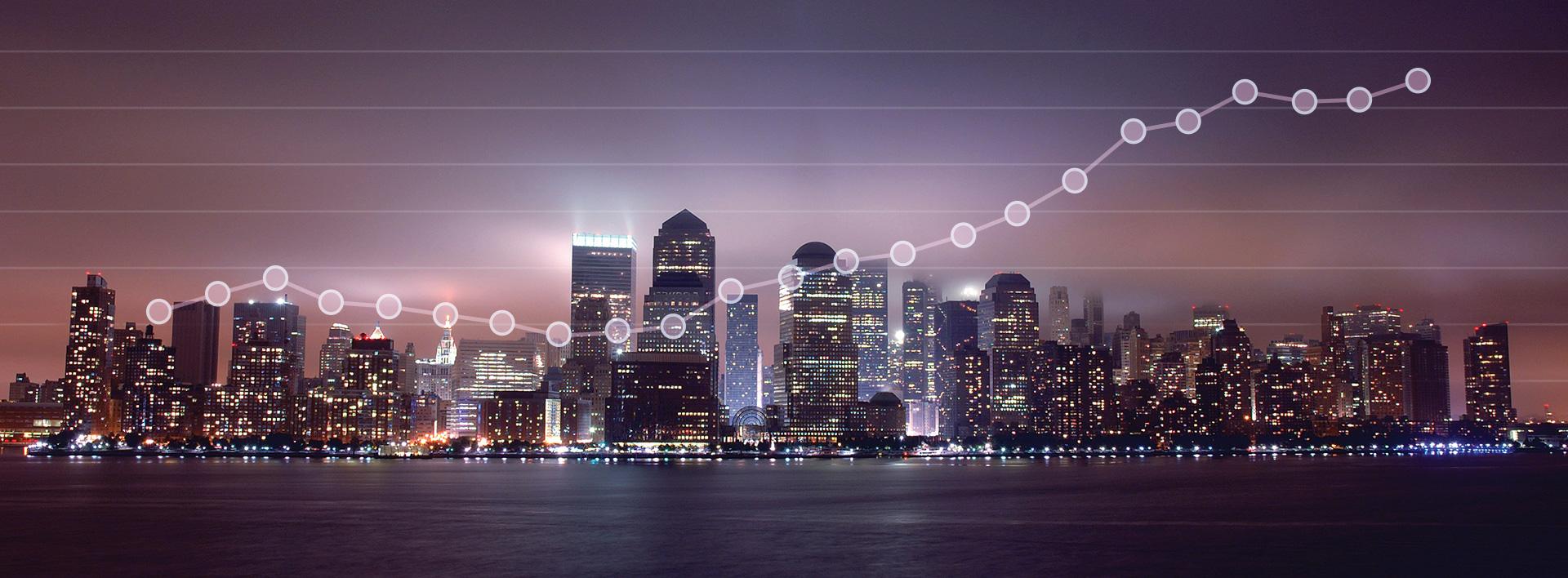 Cityscape banner graphic