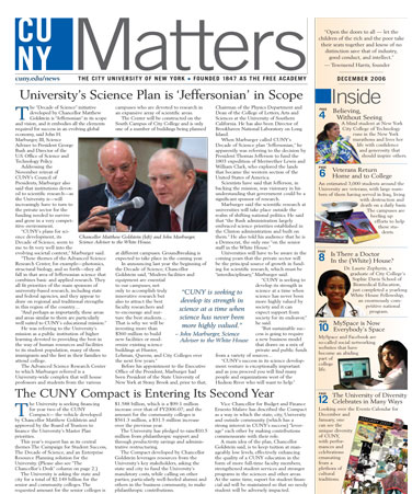 CUNY Matters December 2006 cover