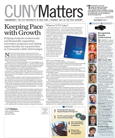 CUNY Matters December 2011 cover