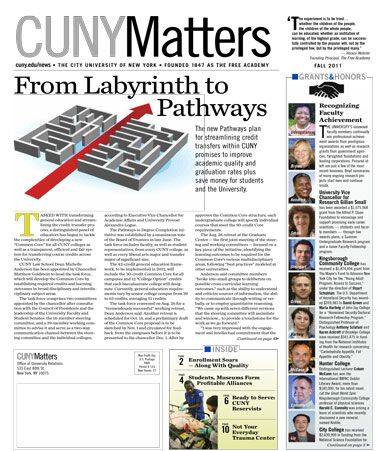 CUNY Matters Fall 2011 cover