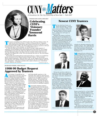 CUNY Matters Fall 1997 cover