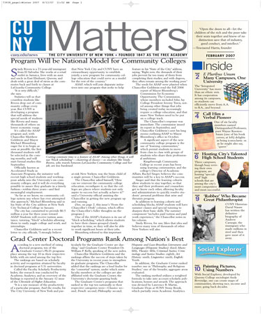 CUNY Matters February 2007 cover