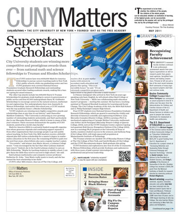 CUNY Matters May 2011 cover