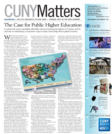 CUNY Matters November 2009 cover