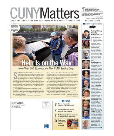 CUNY Matters November 2013 cover