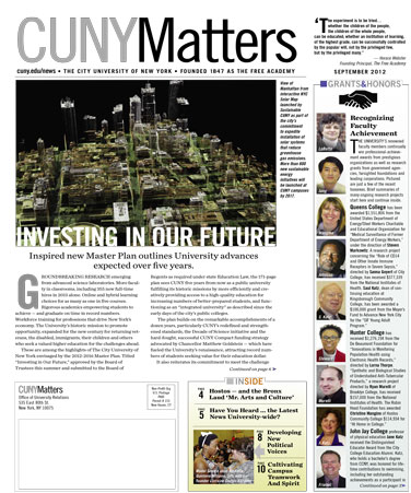 CUNY Matters September 2012 cover