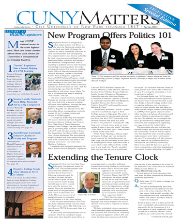 CUNY Matters Spring 2004 cover