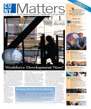 CUNY Matters Legislative Special Edition 2009 cover