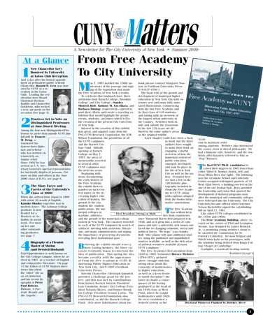 CUNY Matters ummer 2000 cover
