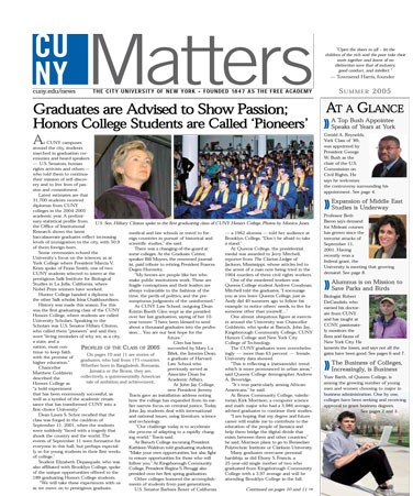 CUNY Matters Summer 2005 cover