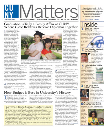 CUNY Matters Summer 2006 cover