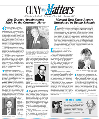 CUNY Matters Summer 1999 cover