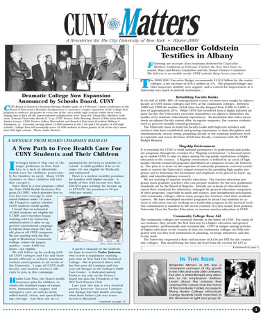 CUNY Matters Winter 2000 cover