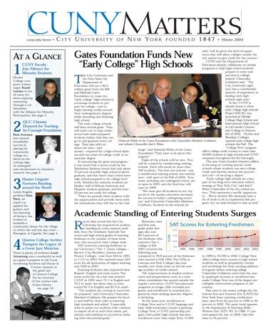 CUNY Matters Winter 2004 cover