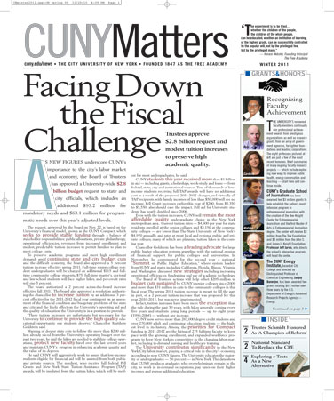 CUNY Matters Winter 2011 cover