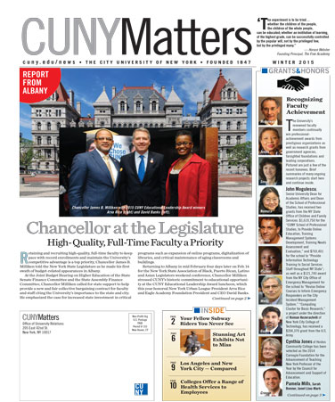 CUNY Matters Winter 2015 cover