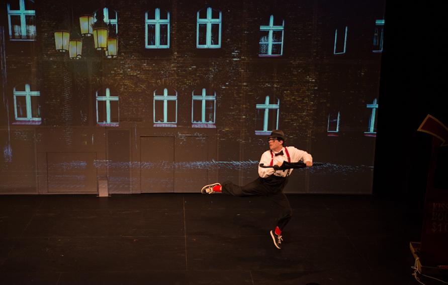 Mark Gindick Wing Man Gene Kelly leap, CUNY Dance Initiative
