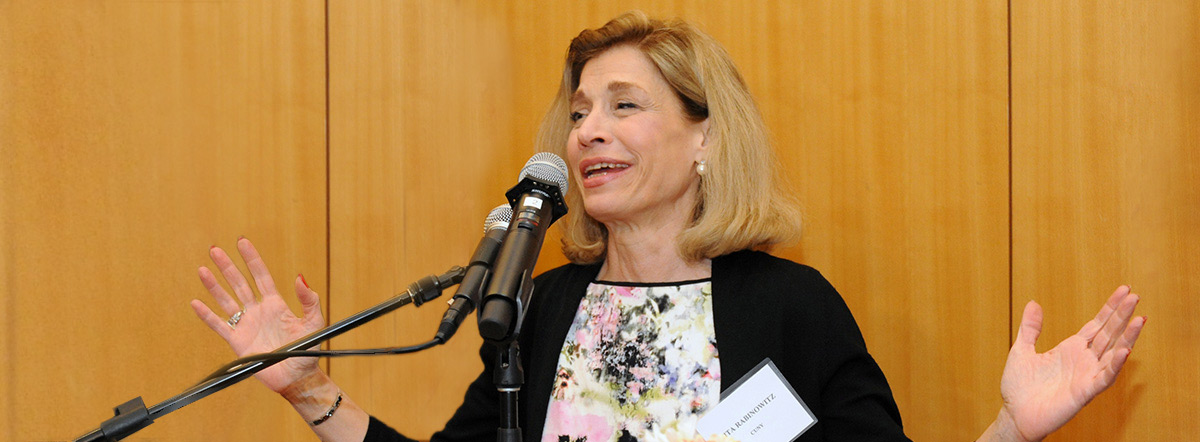 Interim Chancellor Vita Rabinowitz at Fourth annual Murphy Institute Diversity in Labor Scholarship Awards