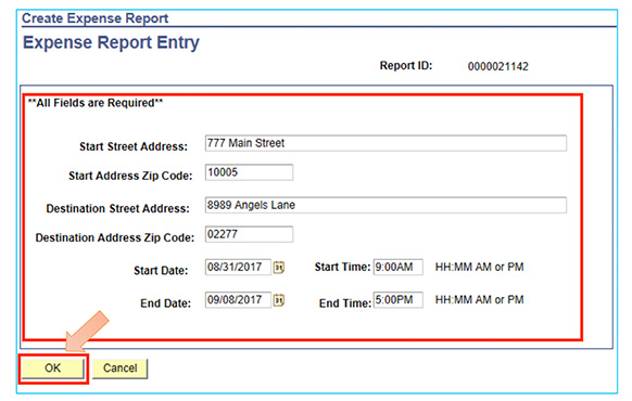 Expense Report Entry Travel Related Events graphic