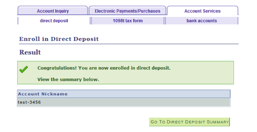 Direct Deposit – The City University of New York