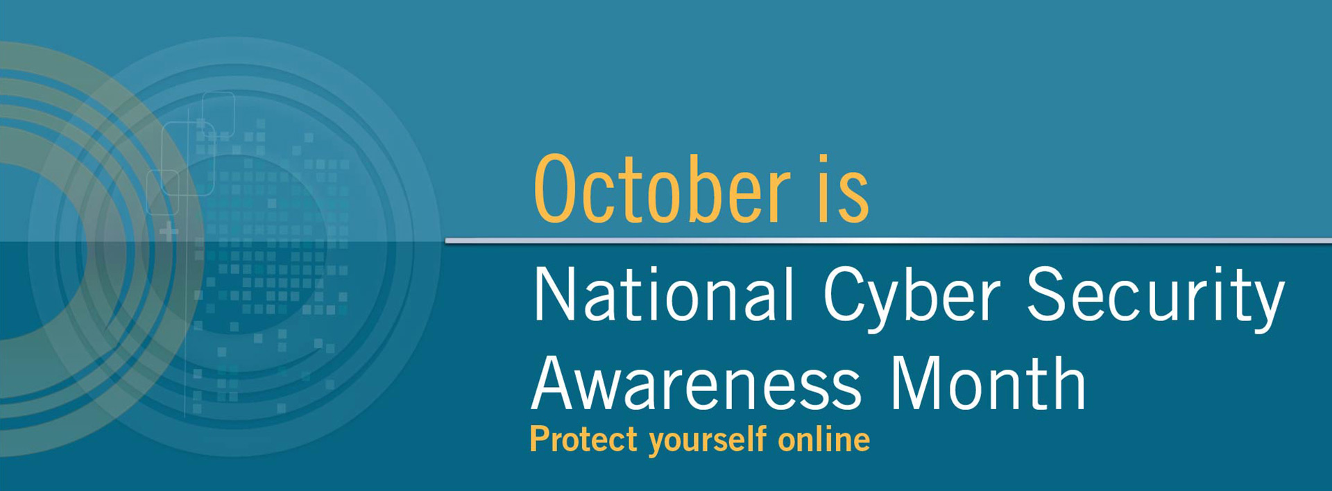 October is National Cyber Security Awareness Month banner