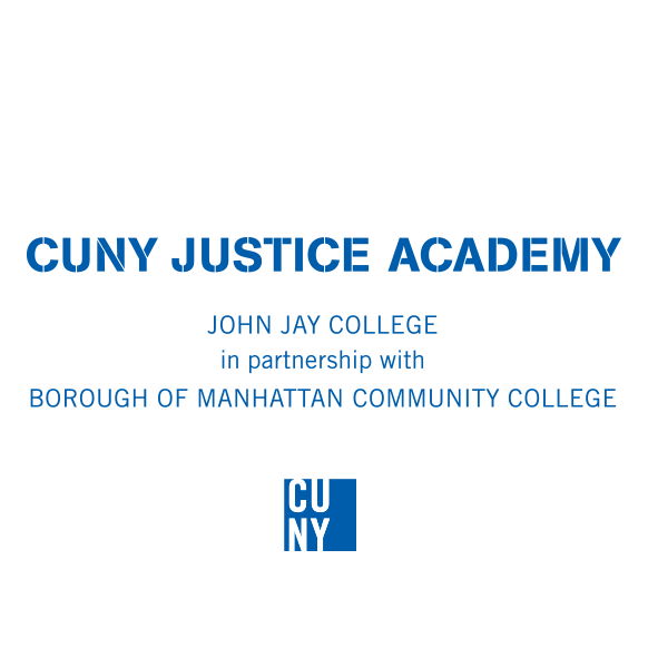 CUNY Justice Academy in partnership with BOROUGH OF MANHATTAN COMMUNITY COLLEGE, Logo