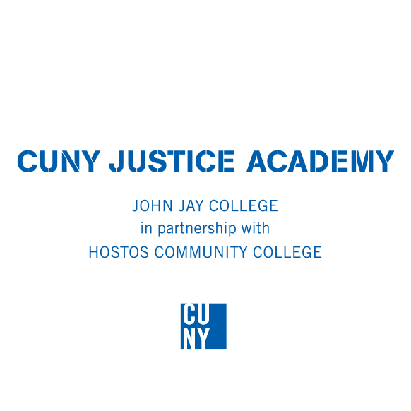 CUNY Justice Academy Logo in partnership with HOSTOS COMMUNITY COLLEGE