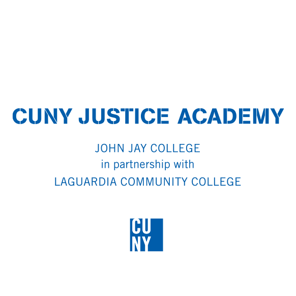 CUNY Justice Academy in partnership with LAGUARDIA COMMUNITY COLLEGE Logo