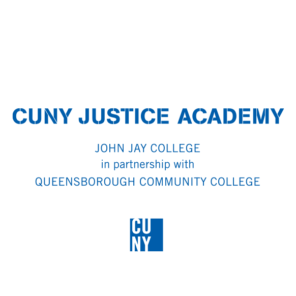 CUNY Justice Academy, in partnership with Queensborough Community College Logo