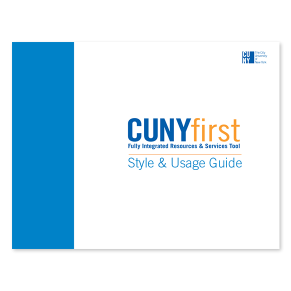 CUNYfirst - Guide graphic