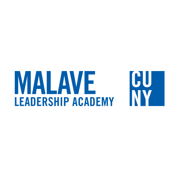 Malave LEADERSHIP ACADEMY, Primary Logo with CUNY Logosquare