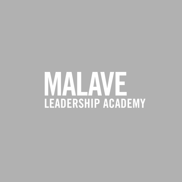 Malave LEADERSHIP ACADEMY, Primary Logo Gray