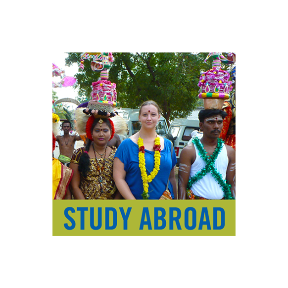 Study Abroad Brooklyn College film student Beth Manly, second from (r), is participating in Pongal, a harvest festival, celebrated in Tamil Nadu, southern India