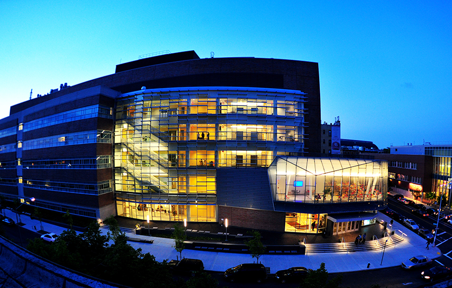 New Science Building, Medgar Evers College at night