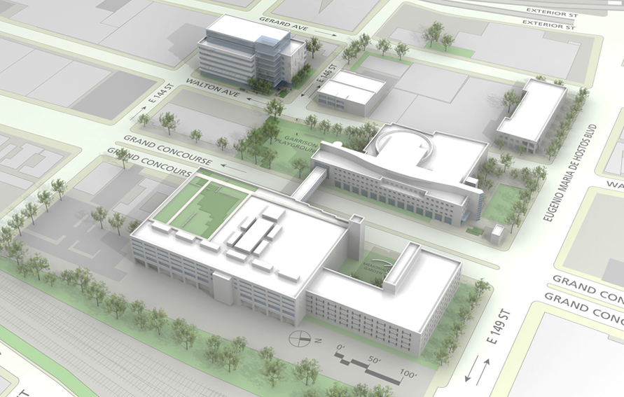 Architectural rendering of future Hostos Community College Allied Health and Science Building