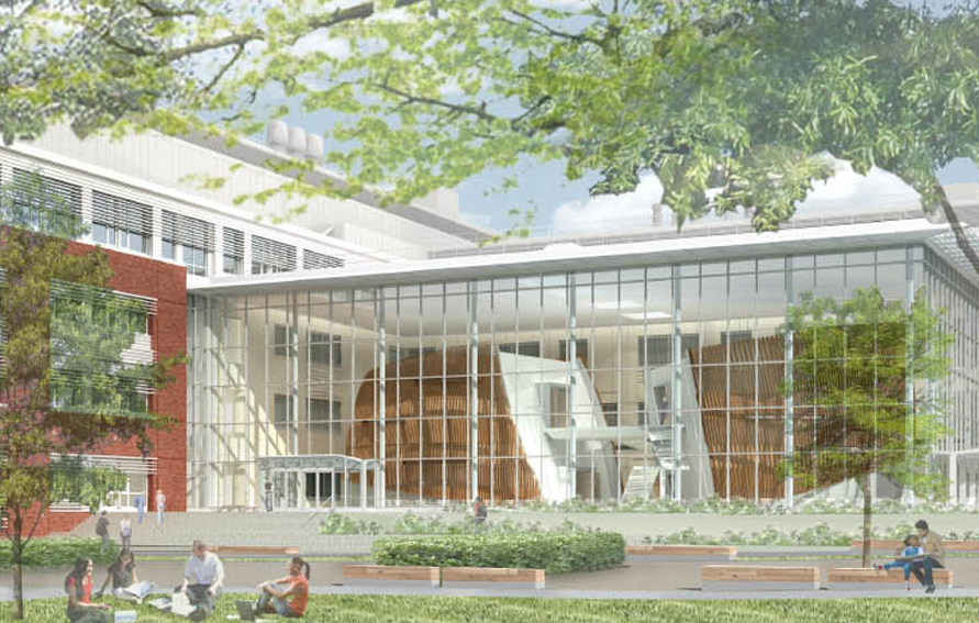 Rendering of Roosevelt Science Building, Brooklyn College