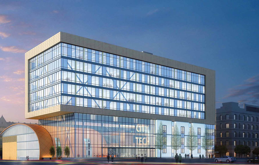 Rendering of new Academic Building, New York College of Technology