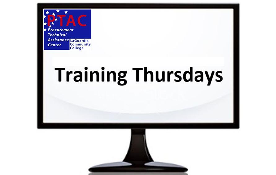 PTAC Training Thursdays graphic