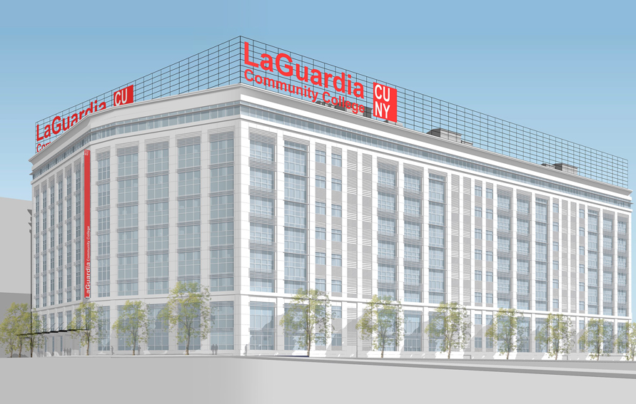 Rendering of LaGuardia Community College building