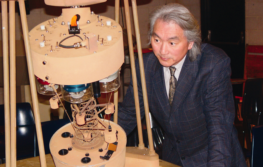 Physics Professor Michio Kaku in the City College planetarium