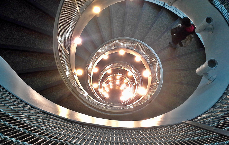 Sprial staircase, Fiterman Hall, Boroough of Manhattan Community College