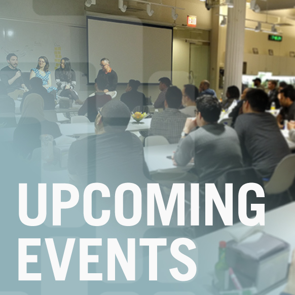 UPCOMING EVENTS graphic for CUNY Tech Consortium