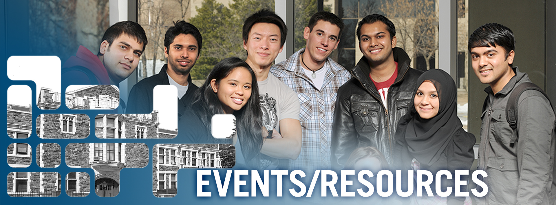 Events and Resources header