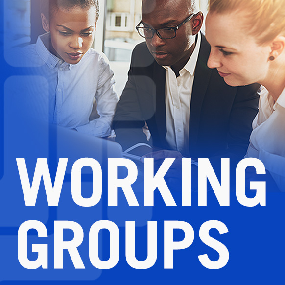 WORKING GROUPS graphic for CUNY Tech Consortium